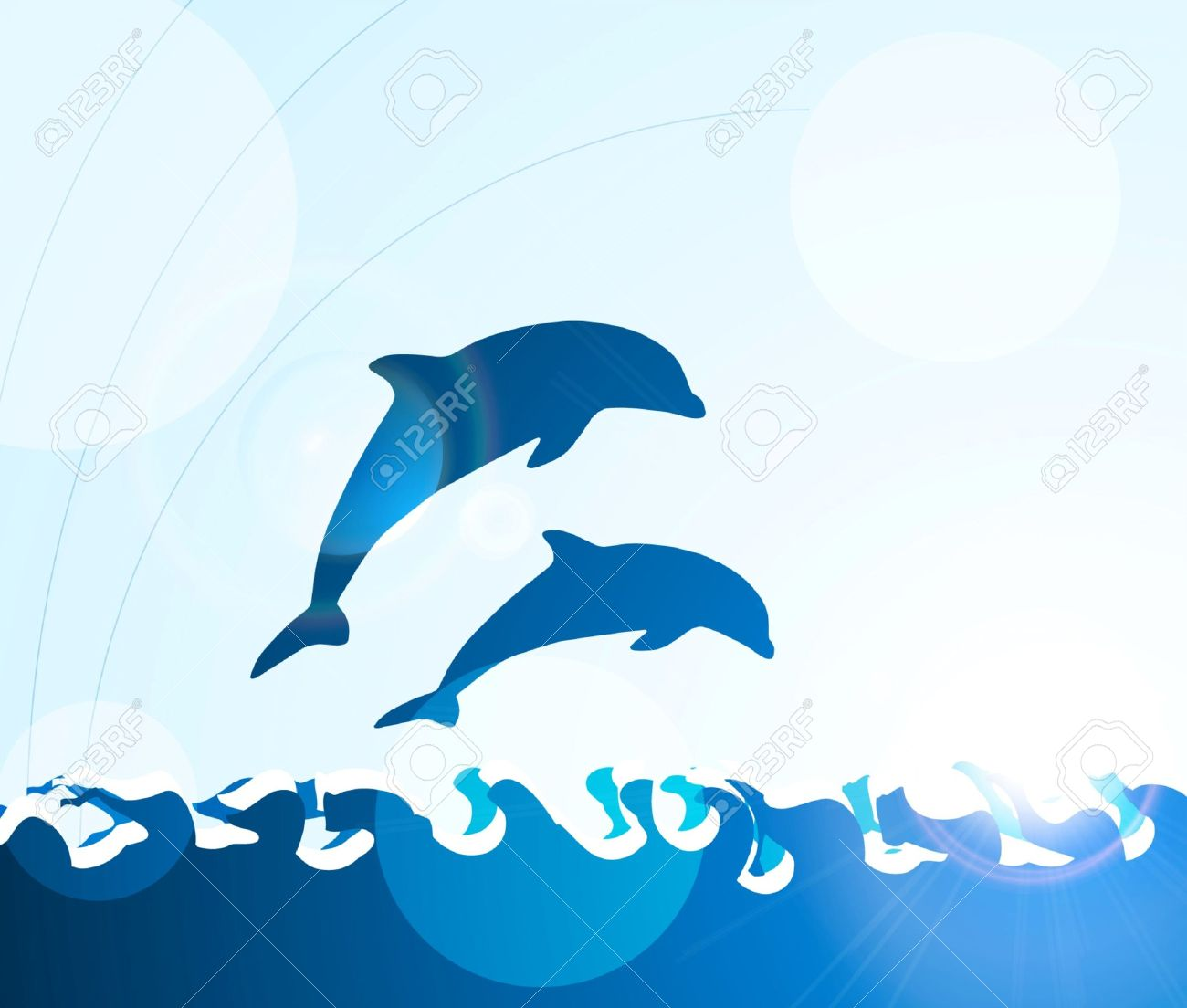 Clipart of dolphins jumping 4 » Clipart Station.
