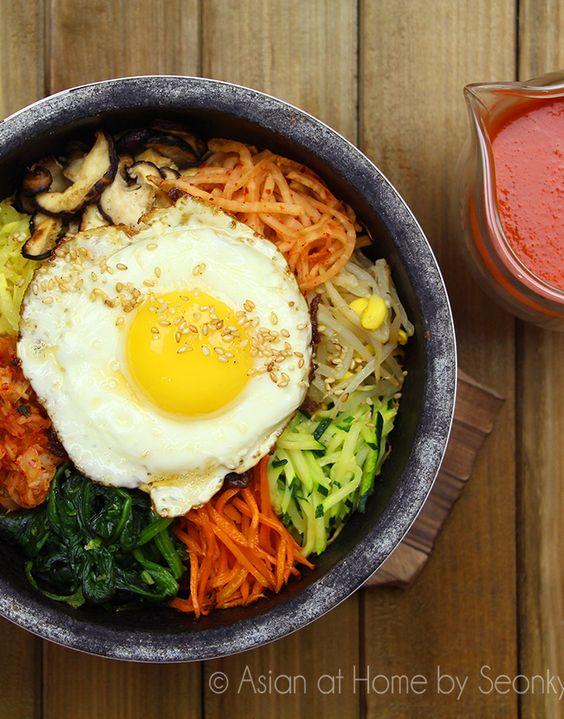Korean Dolsot Bibimbap (Stone Pot Bibimbap) Recipe & Video.