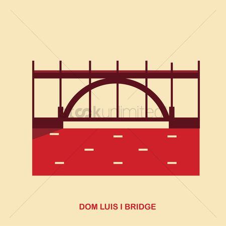 Free Dom Luis I Bridge Stock Vectors.