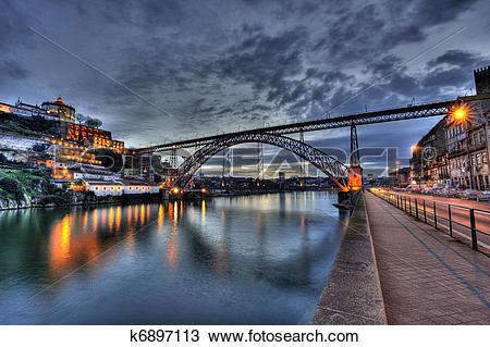Stock Photo of Dom Luis Bridge in Porto k6897113.