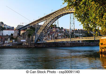 Stock Photo of Dom Luis I bridge.