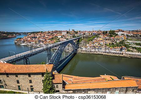 Stock Image of bridge Dom Louis, Porto, Portugal csp36153068.