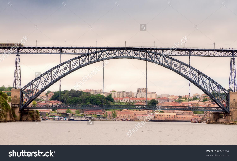 Famous Steel Bridge Ponte Dom Luis Stock Photo 83067574.