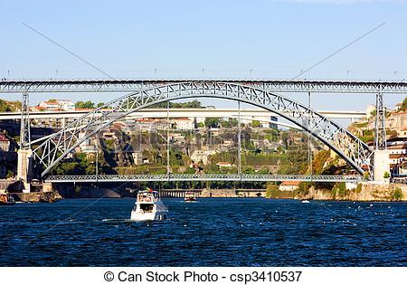 Picture of Dom Luis I Bridge, Porto, Douro Province, Portugal.