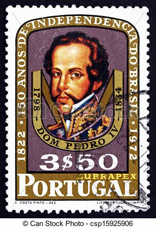 Stock Photography of Postage stamp Portugal 1972 Dom Pedro I.