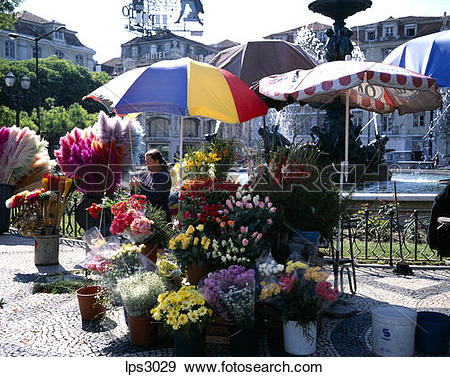 Stock Photograph of 37 Portugal Lisbon Rossio Or Praca Dom Pedro.