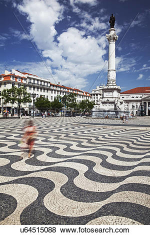 Pictures of Portugal, District of Lisboa, Lisbon. Woman in red.