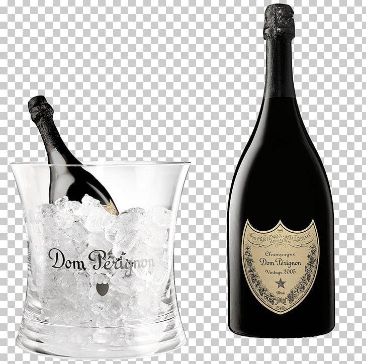 Champagne Wine Dom Pérignon Vintage Bottle PNG, Clipart.
