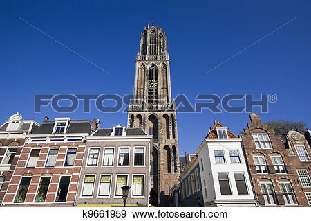 Stock Photograph of Dom Tower of Utrecht, Holland k9661959.