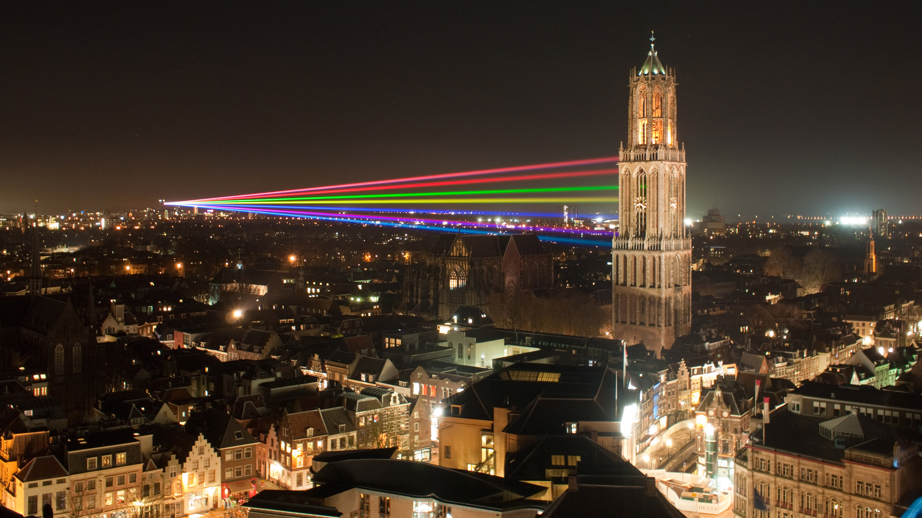 View of the Dom Tower in Utrecht, Netherlands.