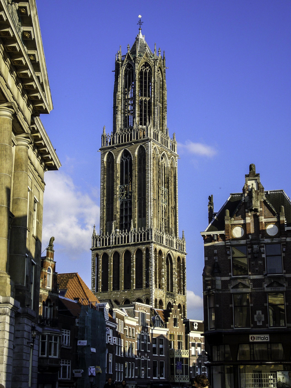 Dom Tower from Stadhuisbrug, Utrecht, Netherlands.