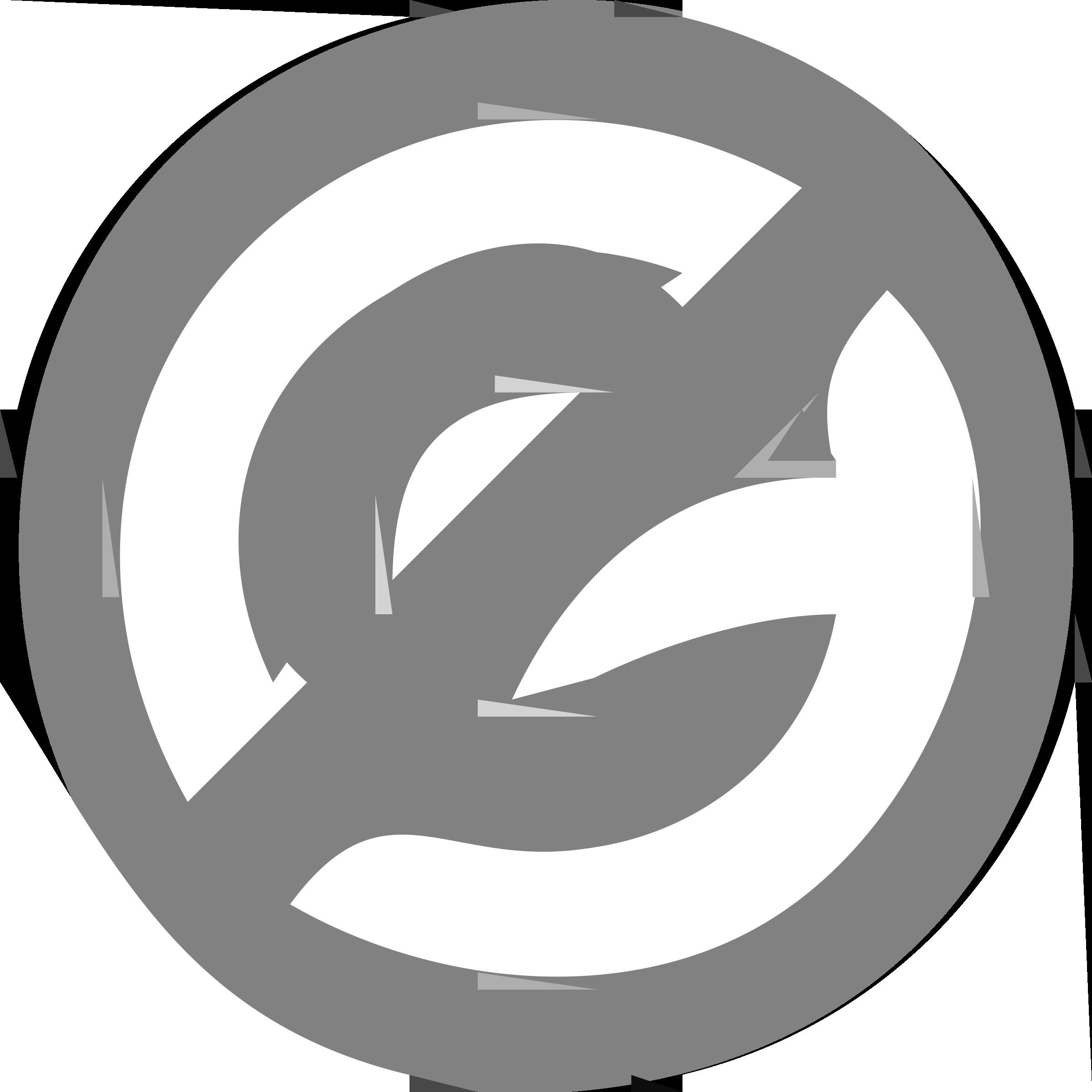 Public Domain Icon vector clipart image.