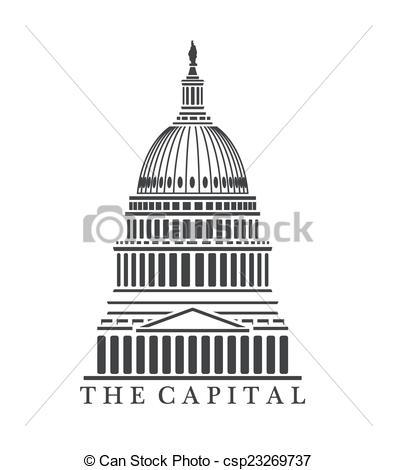 Vectors of Capitol building.