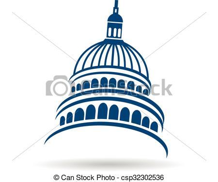 Vectors of Capitol building logo.