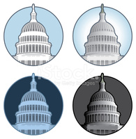 Capitol Building Dome stock vectors.