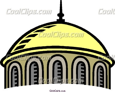 Dome Building Clipart.