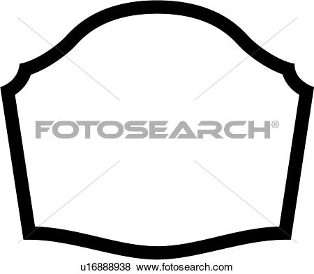 Clip Art of , border, sign, blank, dome, basic, panel, shapes.