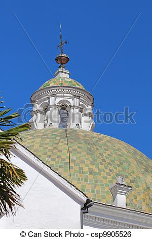 Stock Image of Dome at the church of San Francisco in Quito.