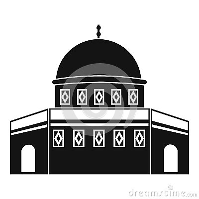 Temple Mount Dome Rock Stock Illustrations.