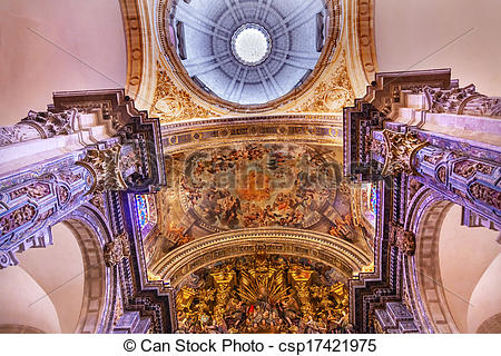 Picture of Basilica Dome Painting Altar Piece Church of El.
