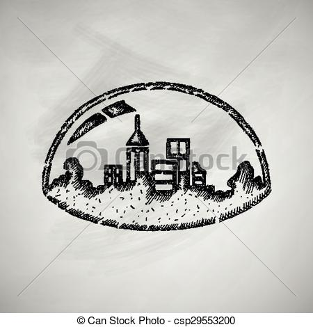 Vector Clipart of domed city icon csp29553200.