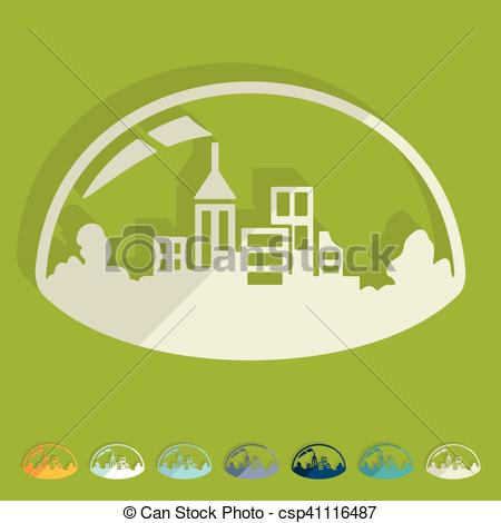 Vector of Flat design: domed city csp41116487.