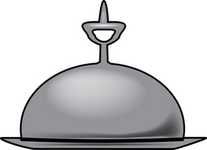 Room Service Clipart Image.
