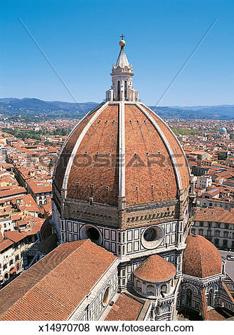 Pictures of Close Up of the Dome of the Duomo, Florence, Italy.