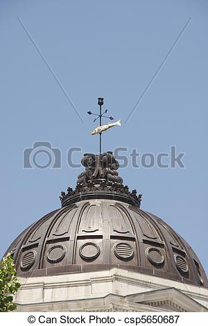 Picture of Copper Domed Roof on Old Courthouse Building.
