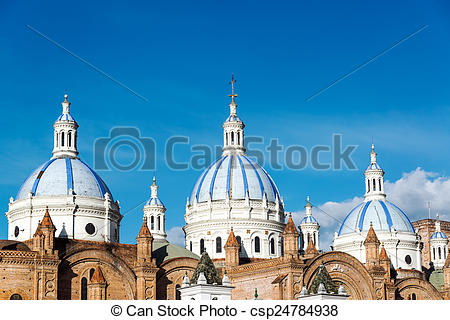 Stock Photos of Cuenca Cathedral Domes.