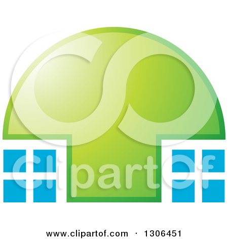 Clipart of a Colorful Dome and Reflection 2.