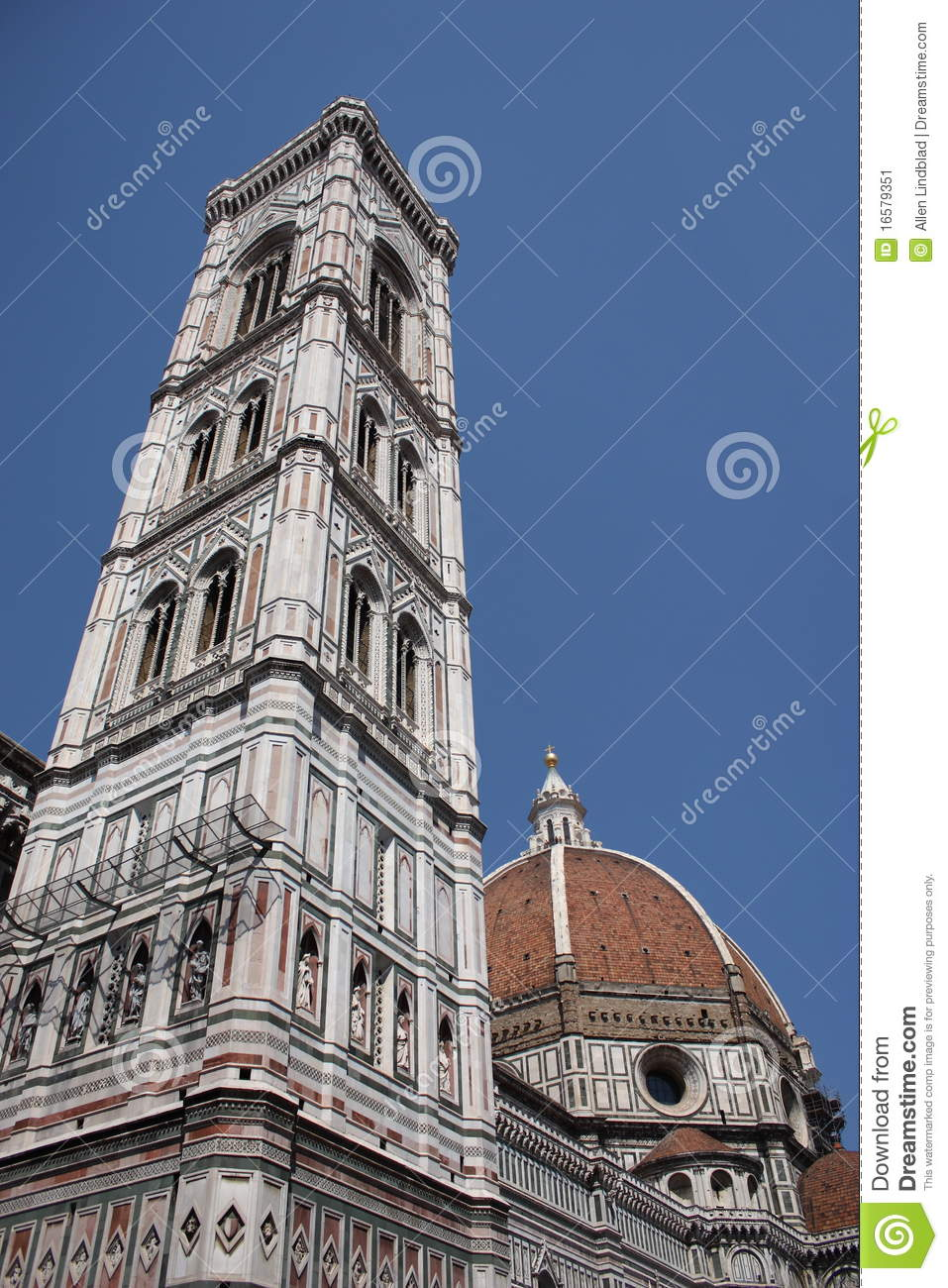 Florence Cathedral Tower And Dome Stock Image.