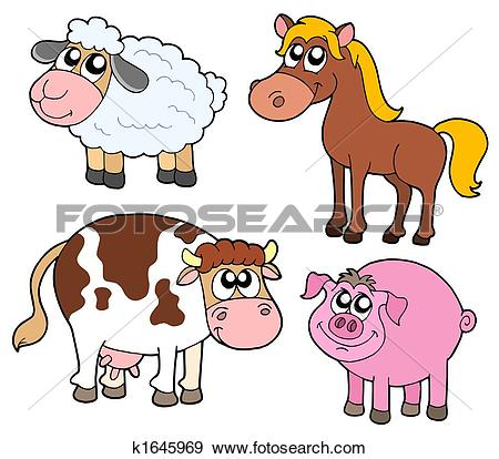 Stock Illustration of milk cow, animal, land animal, mammal.