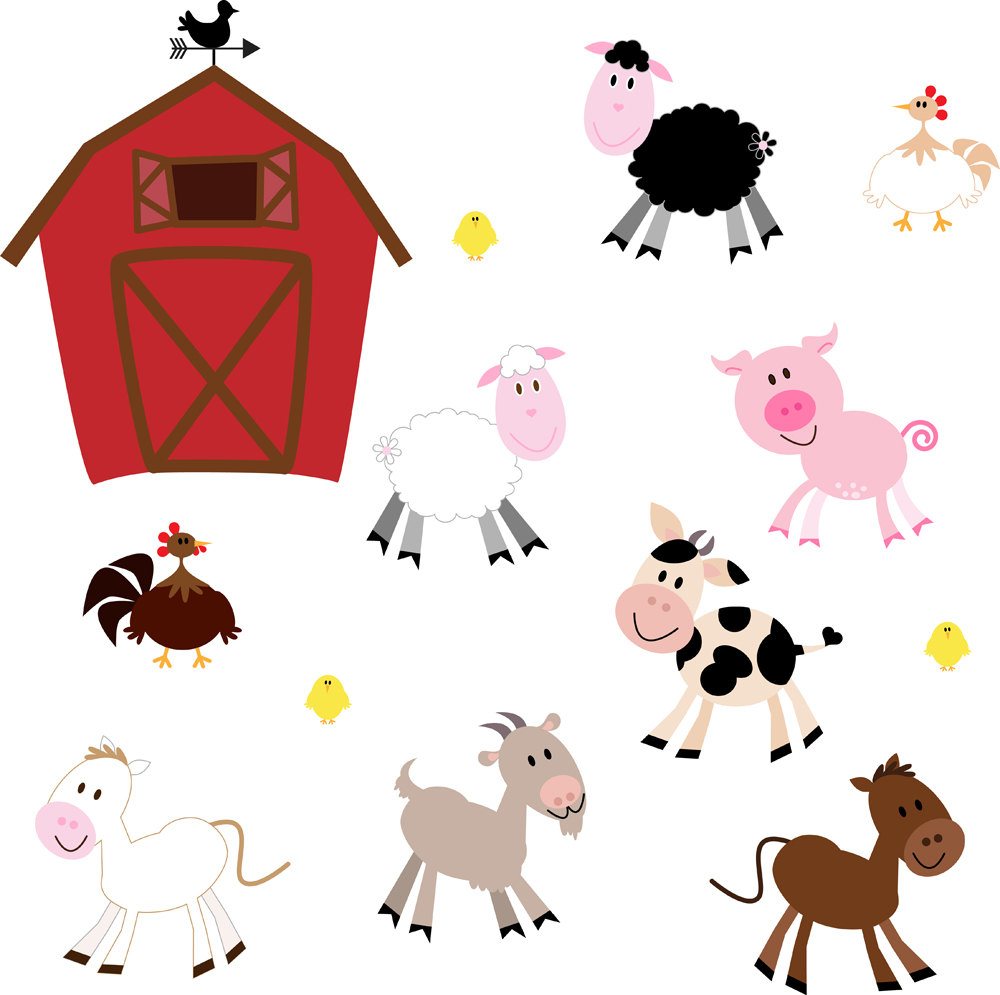 Domestic animals clipart free.