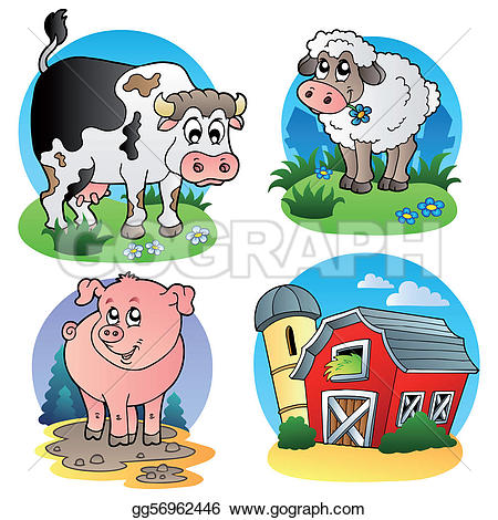 Domestic Animals Clip Art.