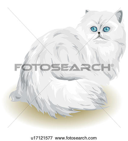 Stock Illustration of domestic cat, animal, feline, domestic.
