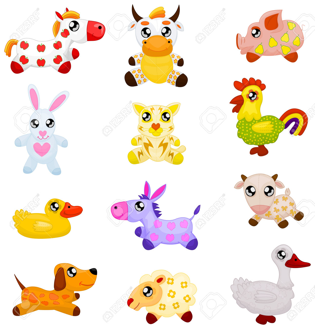 Domestic Toy Animals Royalty Free Cliparts, Vectors, And Stock.