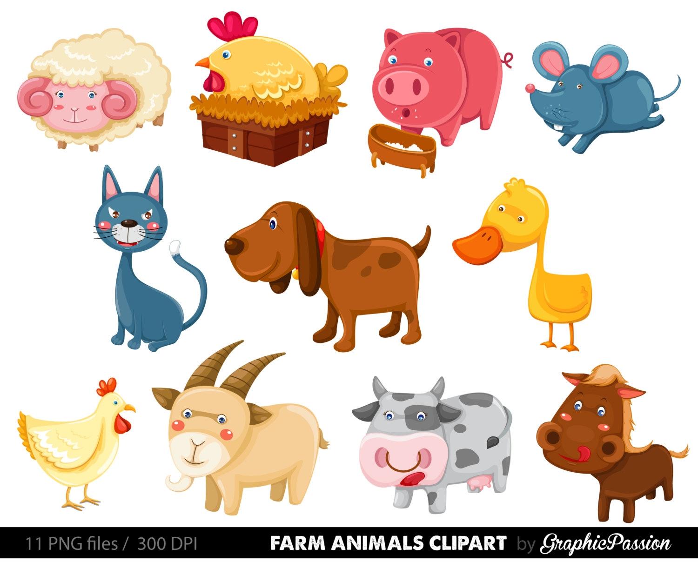 Clipart domestic animals.