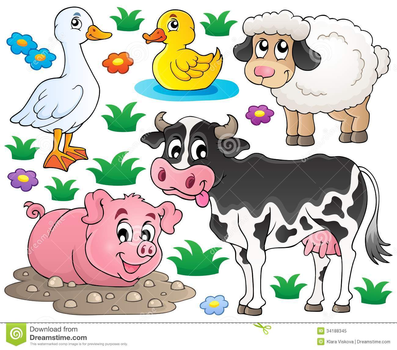 Clipart Domestic Animals.