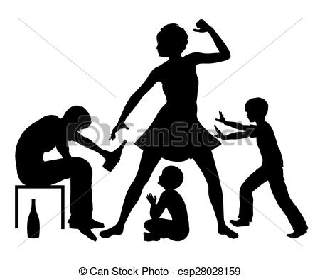 Stock Illustrations of Alcohol and Domestic Violence.