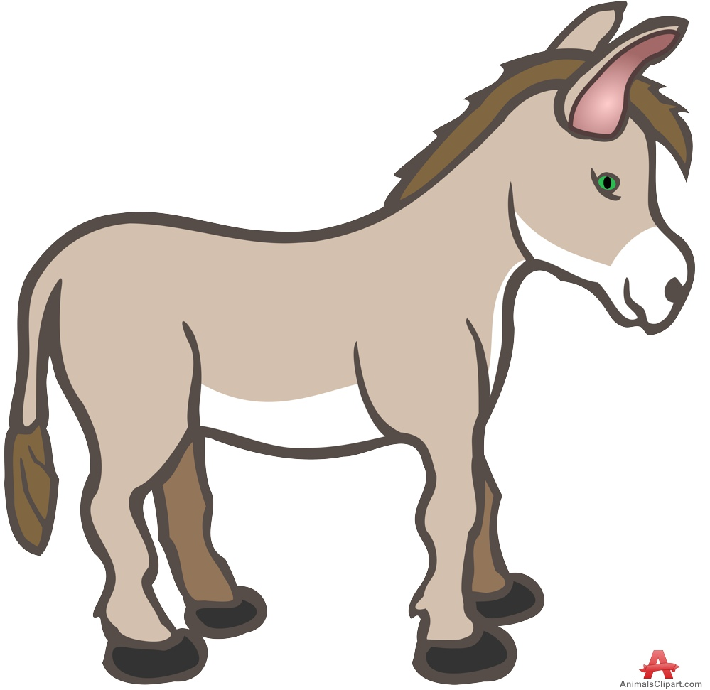 Cute Baby Donkey Clipart.