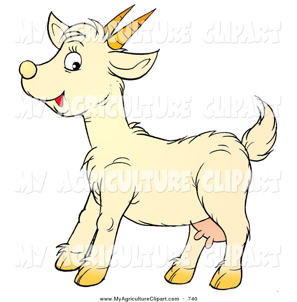 Domestic goat clipart #2
