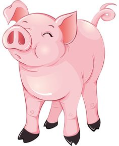 Pin Cute Pig Clip Art Image And Chubby Pink With A Strand Of on.