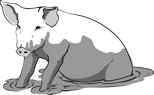 Free Domestic Pig Clipart, 1 page of Public Domain Clip Art.