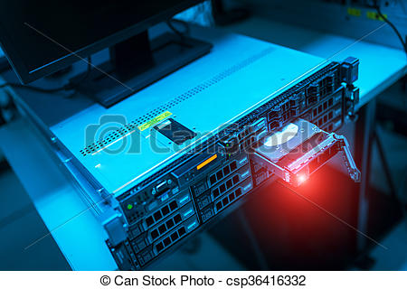 Stock Photos of Storage servers in data room Domestic Room.