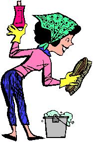 Maintenance Worker Woman Clipart.