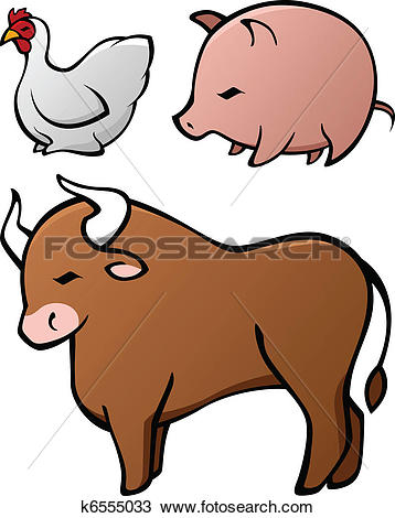 Clipart of Domesticated Animal Set k6555033.