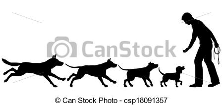 Clipart Vector of Dog domestication.