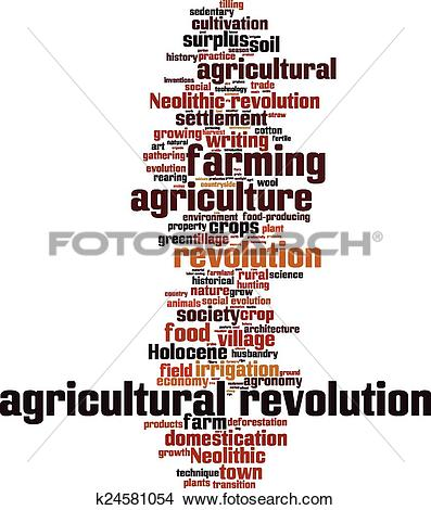 Clipart of Agricultural revolution word cloud k24581054.