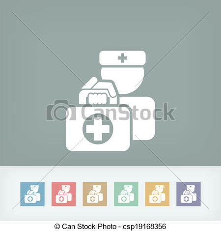 Clipart Vector of Medical to domicile csp19168356.